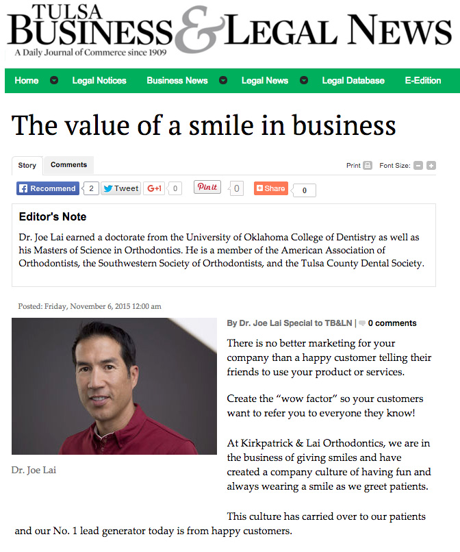 TBLN-Value Of A Smile In Business